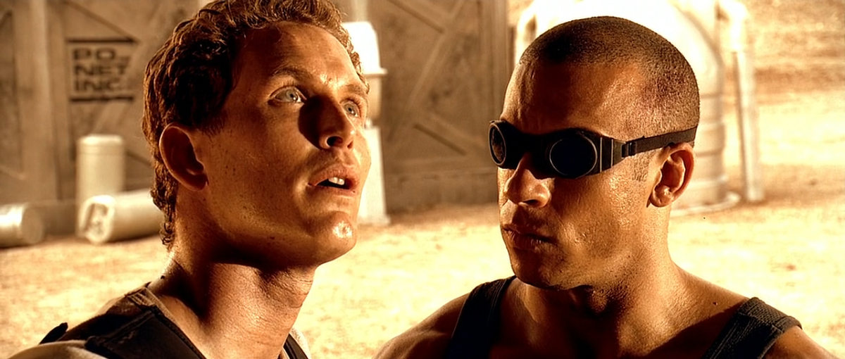 Diesel (right) emerges as the breakout star of the film, giving his character a genuine sense of menace and charisma.