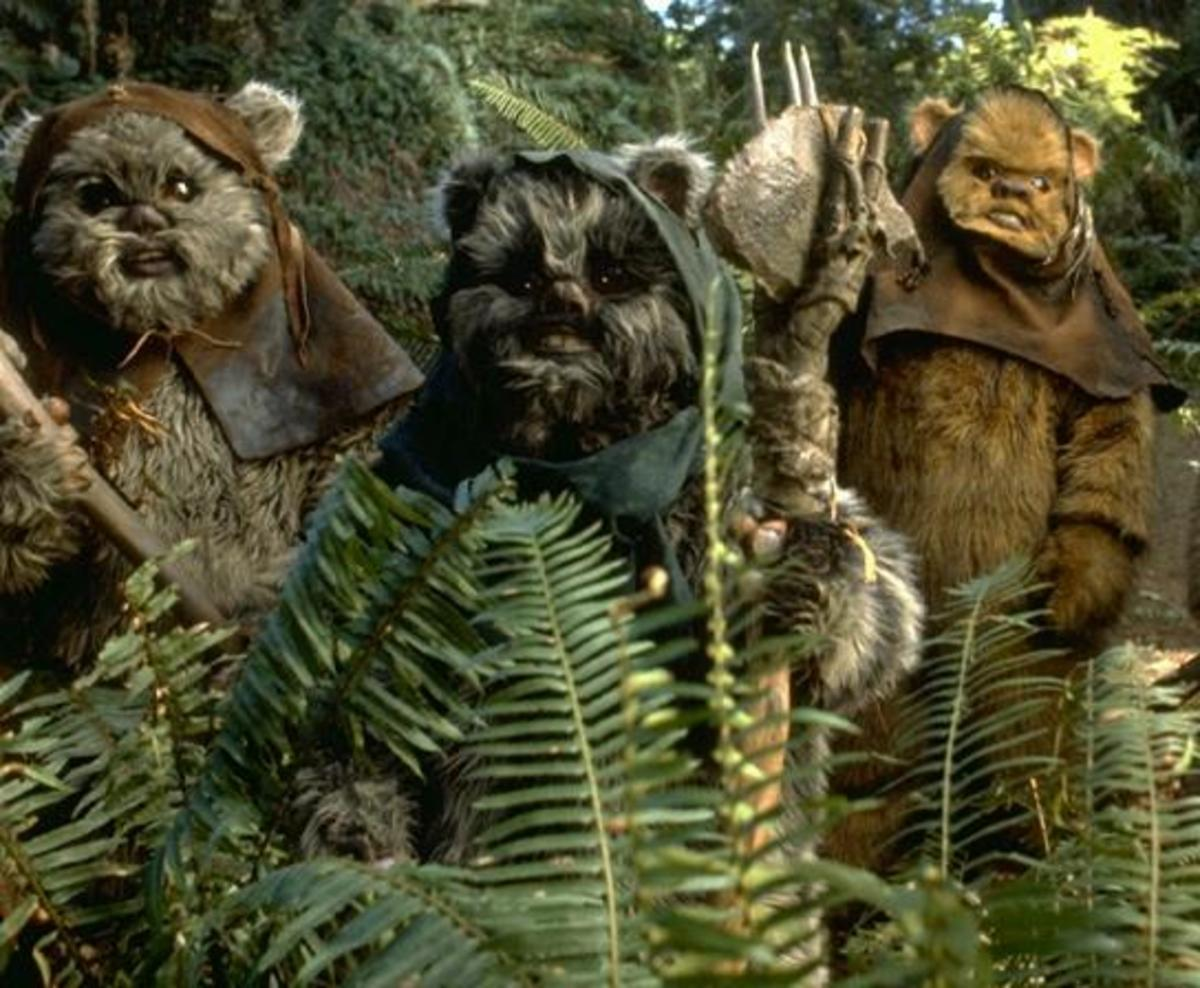 The cuddly Ewoks do feel like a marketing gimmick...