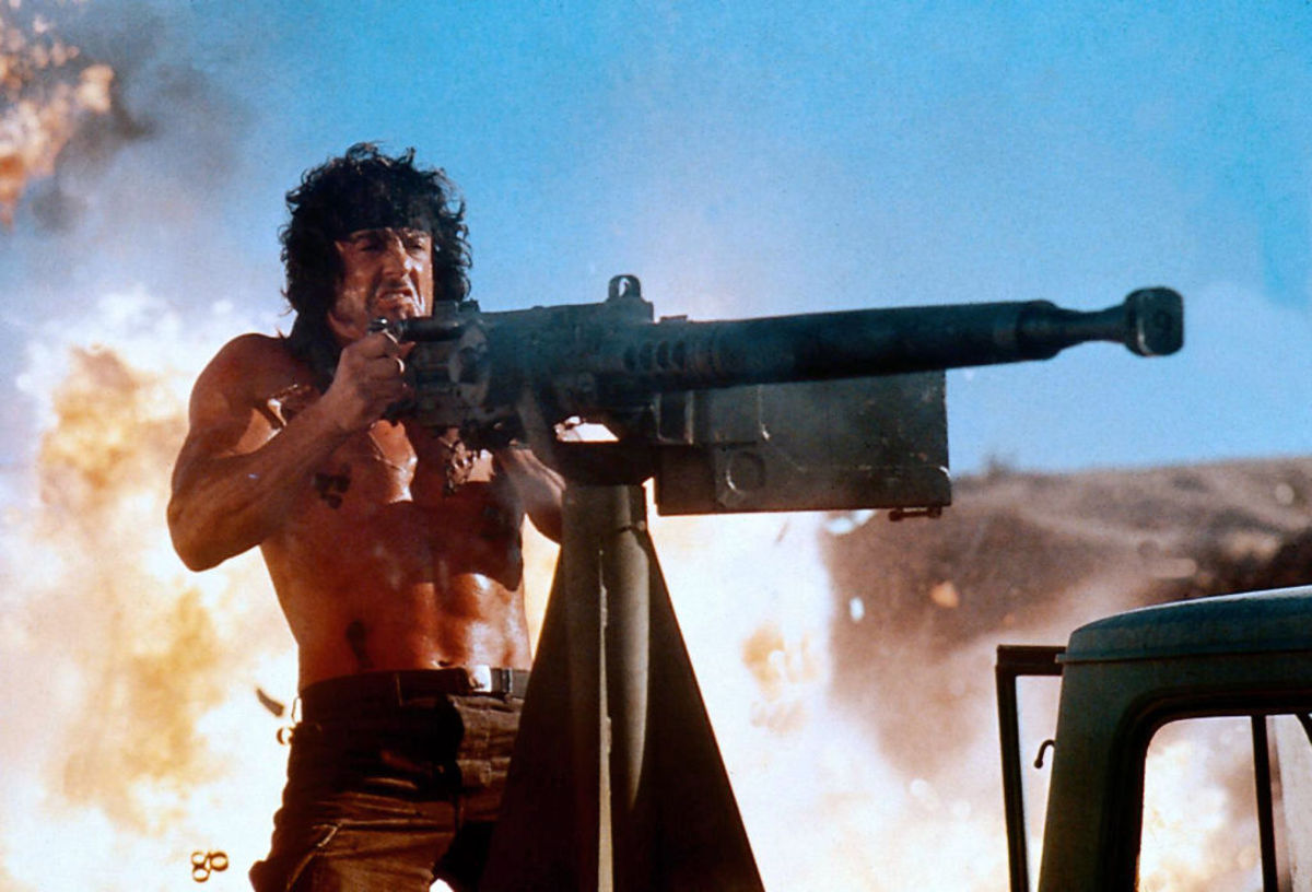 Stallone's invincible man of action once again takes it to those pesky Russians...