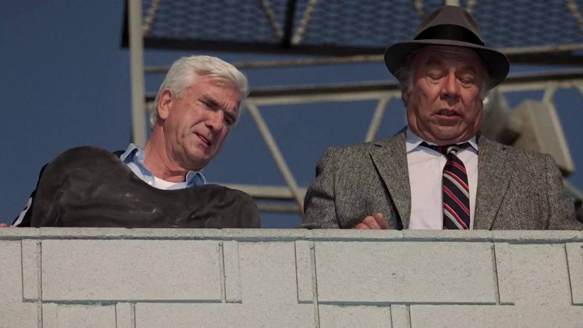 Nielsen's supporting cast are all equally as good, including George Kennedy (right)