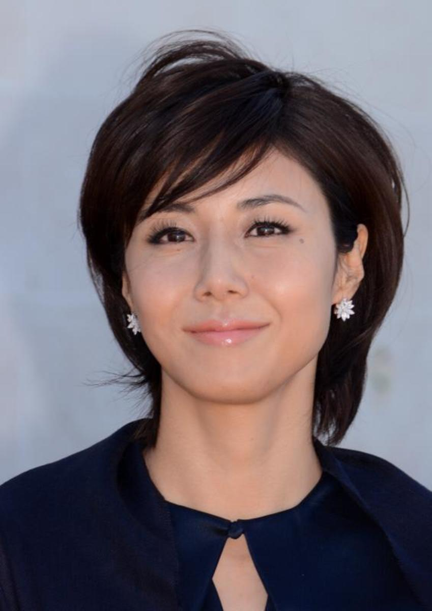 "Nanako Matsushima, star of ""Ring"", at the Cannes Film Festival  2013"