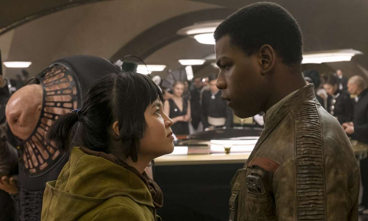 Rose (left) is one of the new characters introduced in the film, one I suspect will be around for Episode IX.