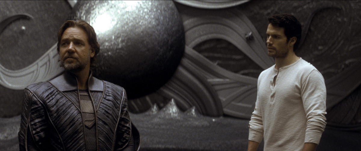 Kal-El meets Jor-El.