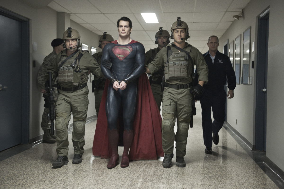 Superman in the custody of the U.S. government.