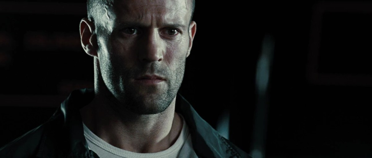 Statham looks the part but doesn't exactly deliver a winning performance in the film, maintaining the same blank expression throughout.
