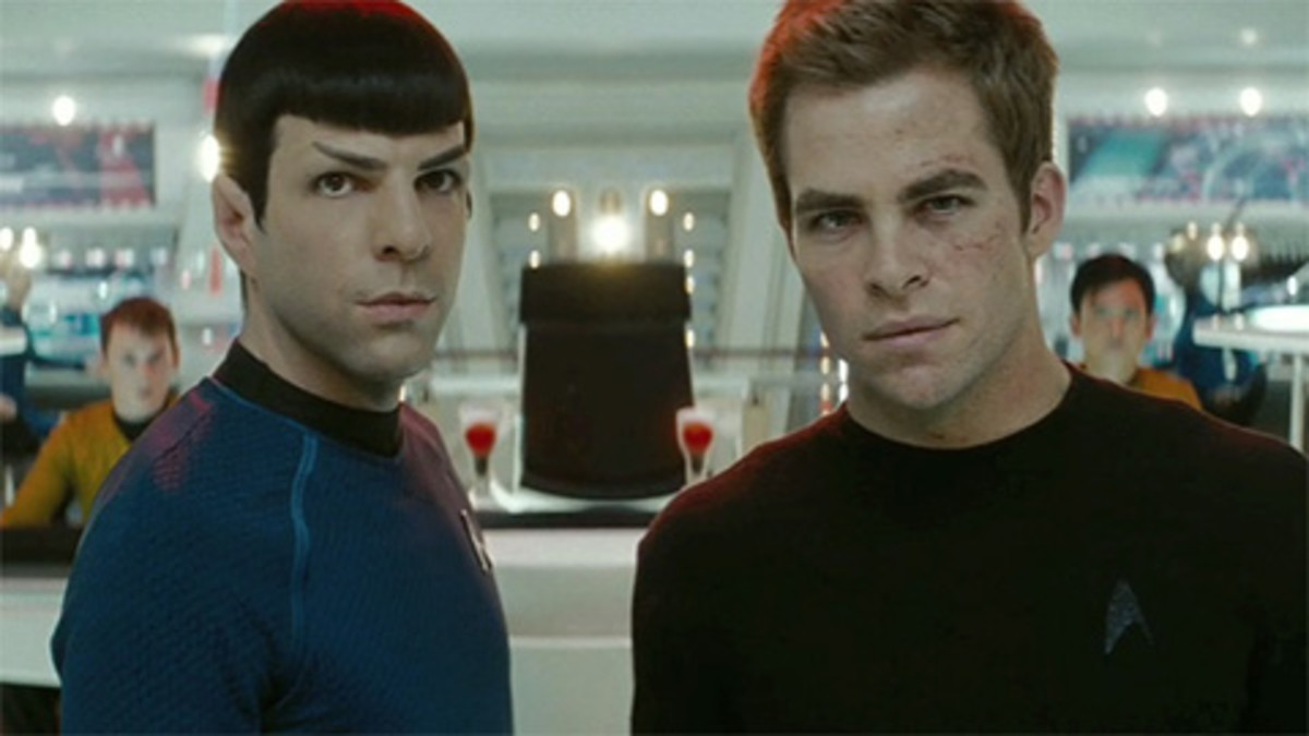 Quinto (left) makes a decent attempt at reclaiming the character from Leonard Nimoy