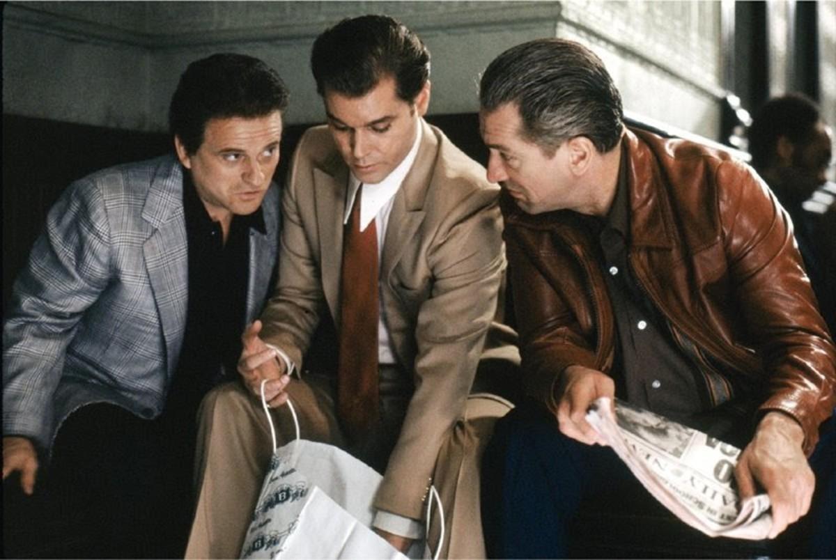 As good as Liotta (centre) and De Niro (right) are, it's Pesci (left) who steals the show with a performance for the ages as Tommy DeVito.