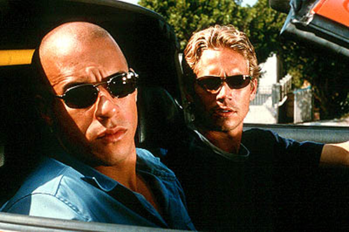 "Vin Diesel and Paul Walker star in ""The Fast And The Furious"""