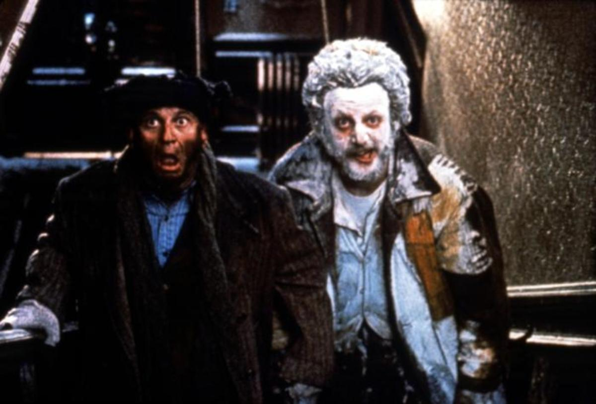 Like last time, Pesci (left) and Stern (right) perform with plenty of goofy gusto