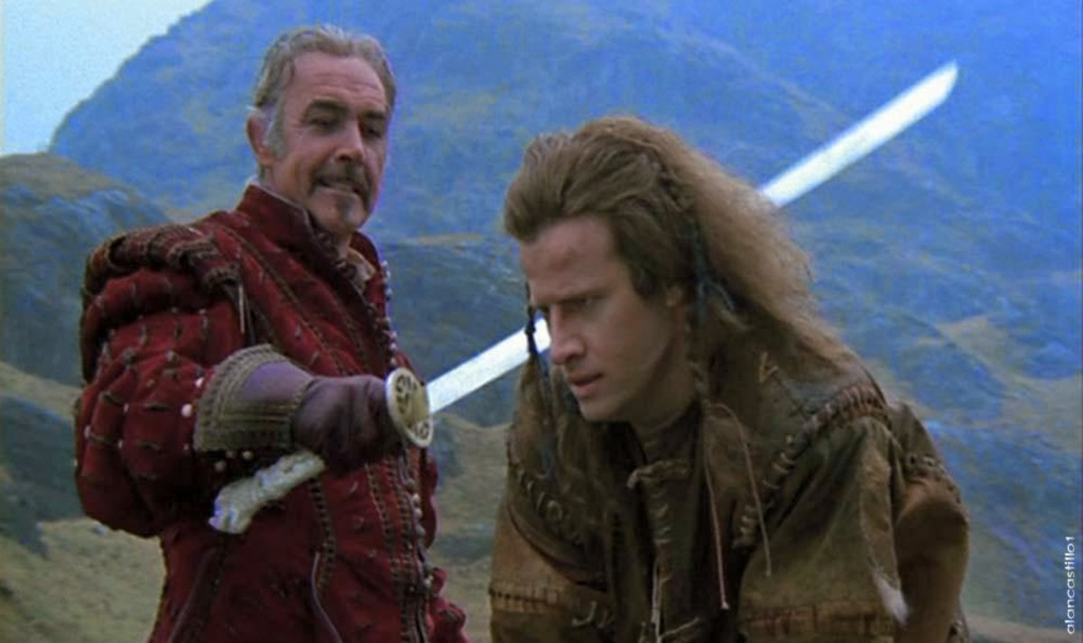 Connery (left) and Lambert (right) have great fun as the two immortal warriors, despite the confusion regarding their accents.