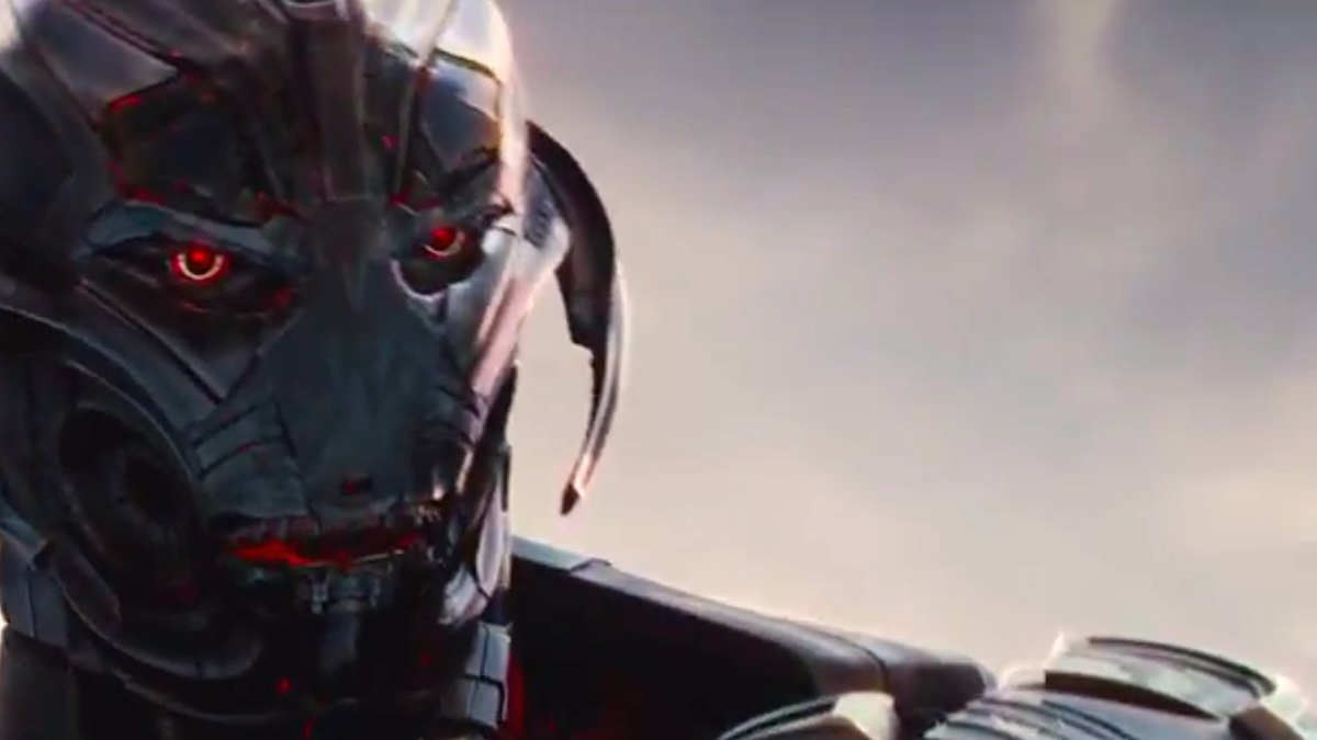 Ultron's face, voiced by James Spader