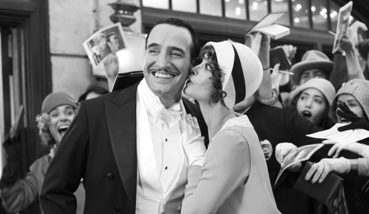 Dujardin (left) and Bejo (right) perfectly encapsulate the inherent glamour and style of pre-talkie movie stars and lend the film a startling credence.