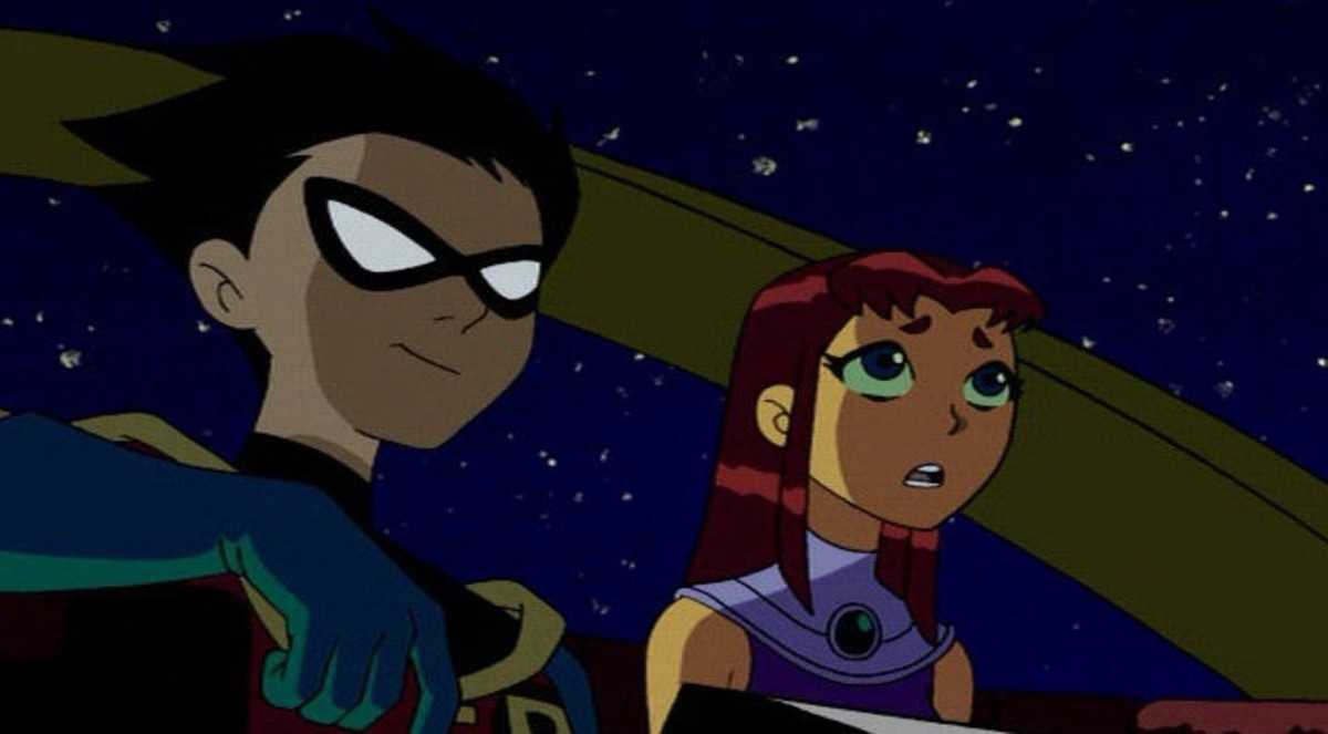 Robin and Starfire spending time together.