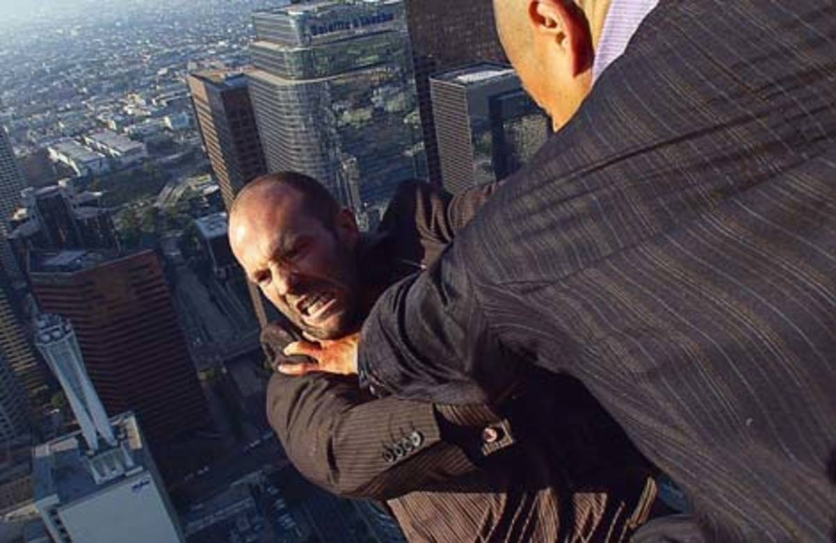 You can't fault Statham's willingness to do his own stunts
