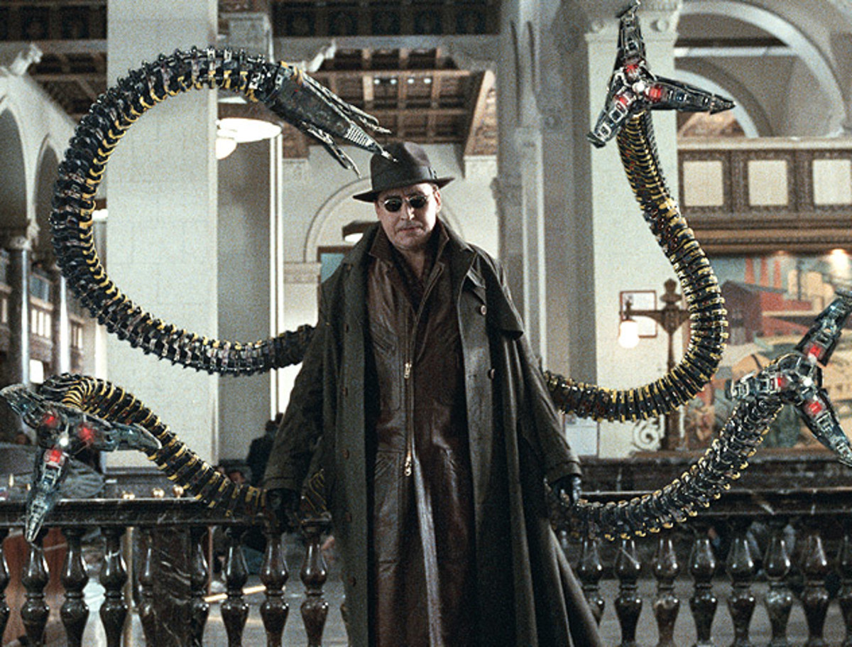 Molina's Doctor Octopus is a superb villain, an improvement in every way on Willem Dafoe's Green Goblin