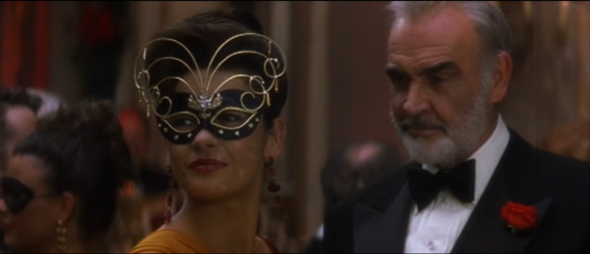 The noticeable age difference between Jones (left) and Connery (right) gives the film a slightly queasy feel, throwing you off balance.