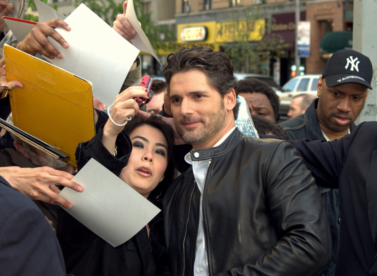 Bana, seen here at the film's US premier at the Tribeca Film Festival, gives the impression that he would happily walk away from Hollywood just to fix and race cars.