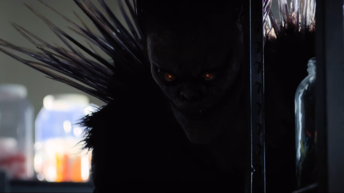 Ryuk makes his first appearance in 'Death Note' (2017), a Netflix adaptation.