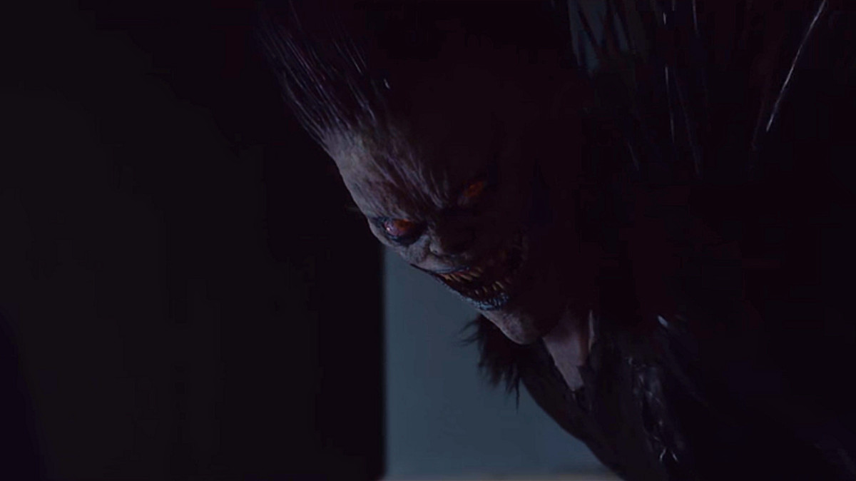 Jason Liles as Ryuk in 'Death Note' (2017), a Netflix adaptation.