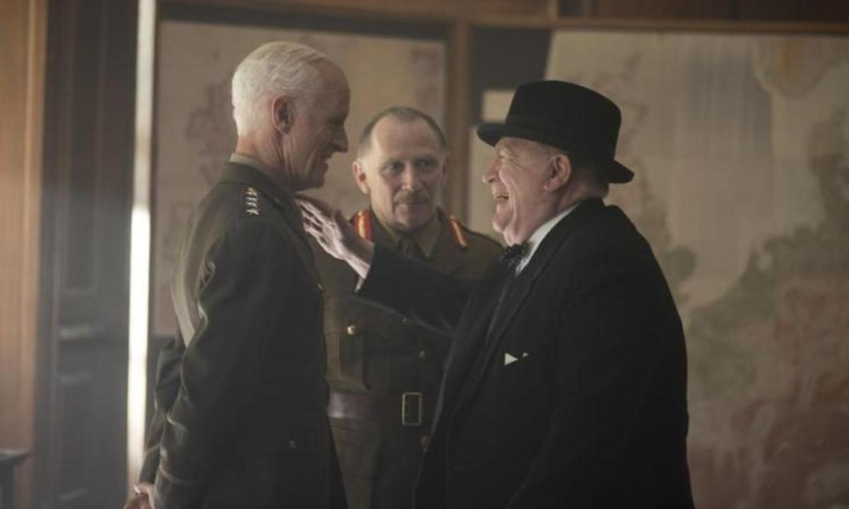 Not only does the film suffer unfortunate comparisons to 'Darkest Hour' but it also contains several historical inaccuracies.
