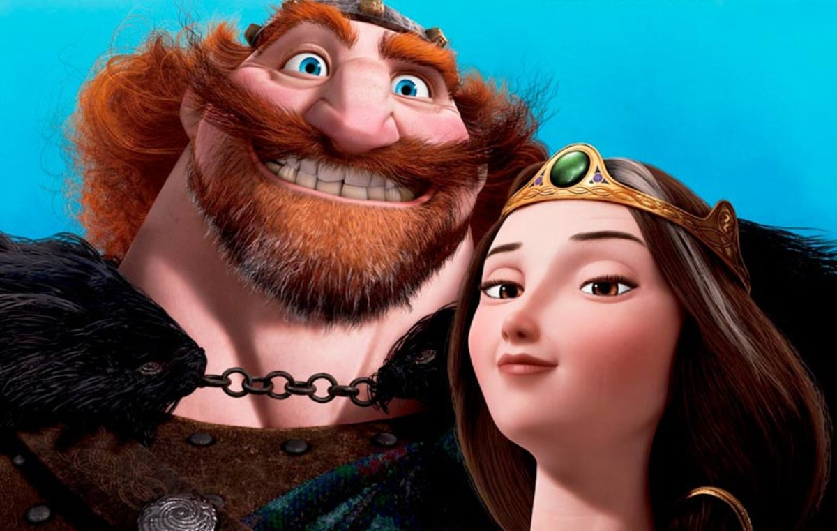 Merida's loving but over-bearing parents - Fergus and Elinor