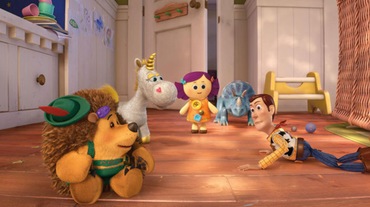"Woody finds some new friends in unfamiliar surroundings in ""Toy Story 3"""