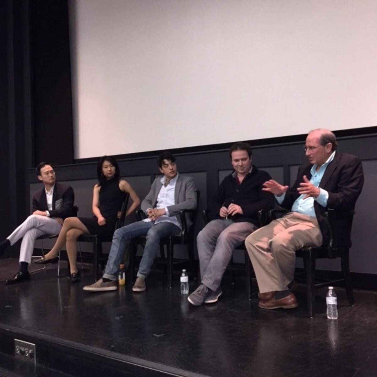 Panelists: Albert Choi, Yuka Taga, Daniel Klimek, Declan Loftus, Dick Atkins (L to R)