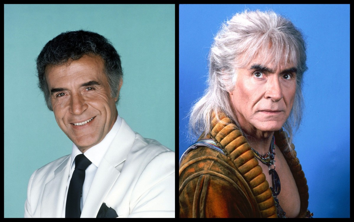 Ricardo on the left as his famous role of Mr. Rourke from Fantasy Island. On the right, Star Trek fans will recognize him as Khan