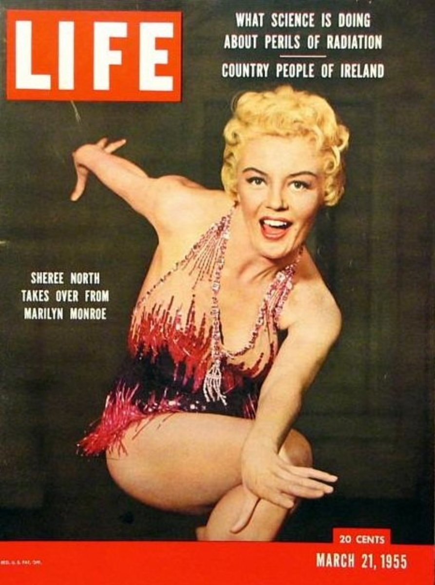 The March 21, 1955 issue of Life had a cover photo of Sheree and a story about her taking over from Marilyn. After all, ANY sexy blond actress could be a Marilyn Monroe, right?