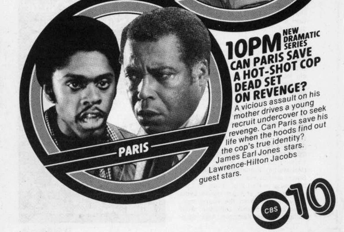 TV Guide Ad for Paris, episode Dear John with Lawrence playing Thomas Sims