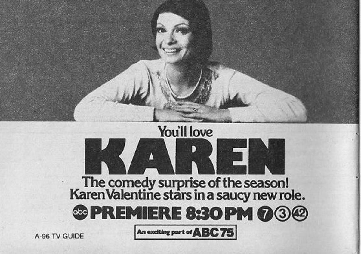 Vintage TV Guide ad for Karen's 1975 TV series