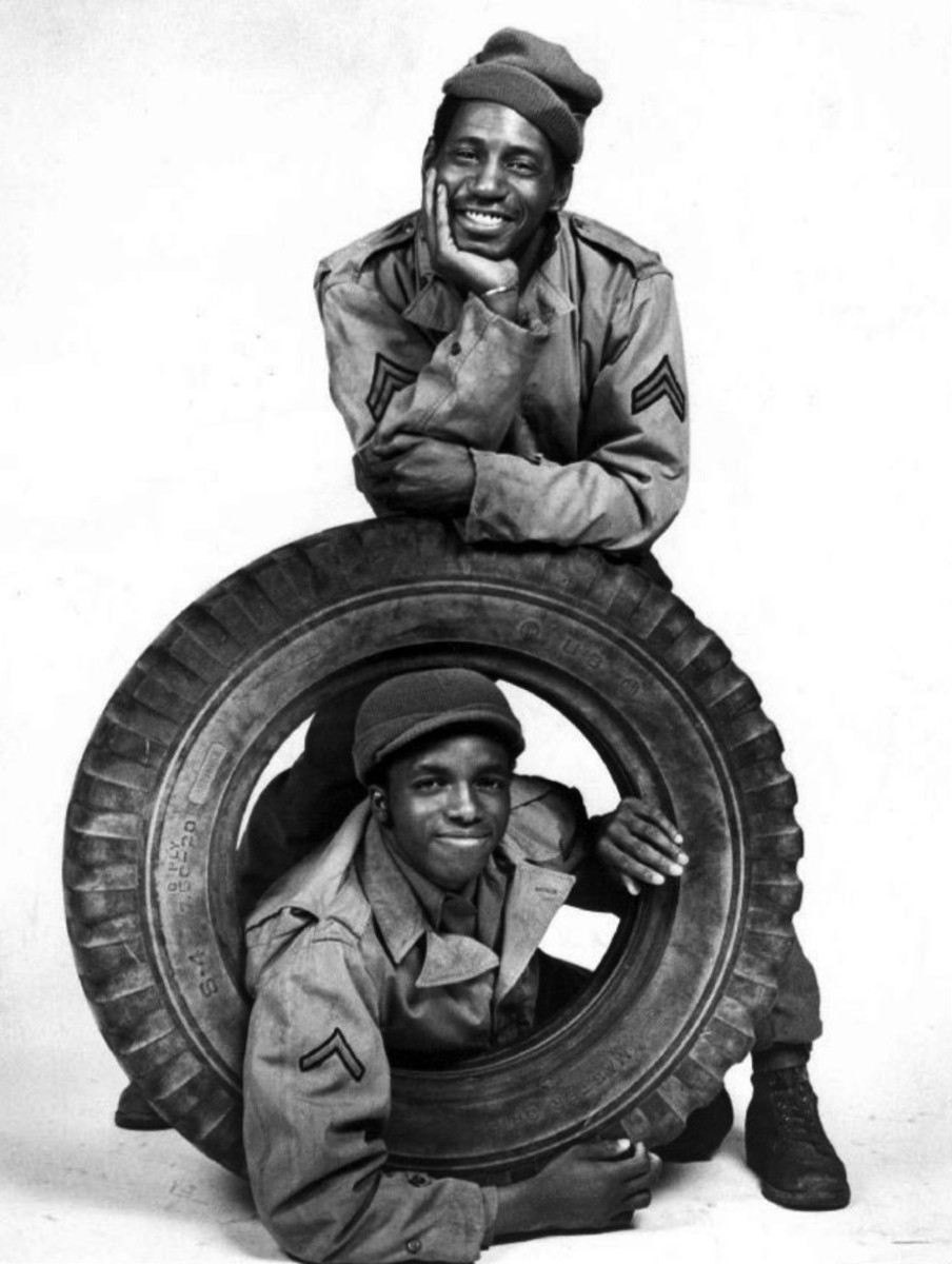 Stu Gilliam (top) and Hilly  Hicks, a cute publicity photo for their series Roll Out.