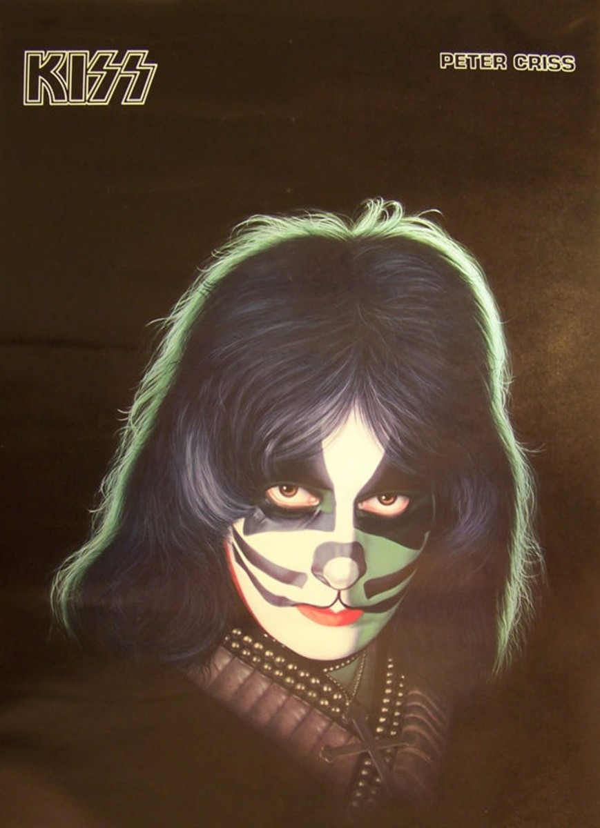 1978 Peter Criss poster published and distributed by C/C Sales