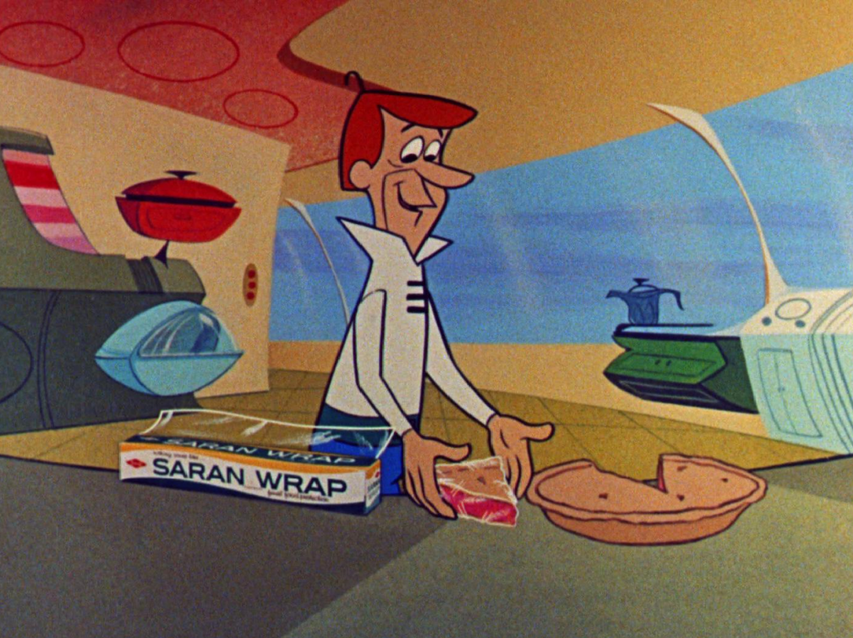 Saran Wrap bumper with George Jetson