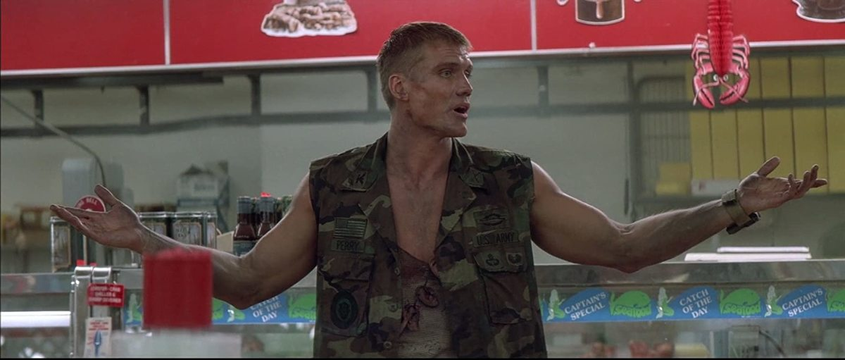 There's no looking away from Lundgren, he's so damn good!