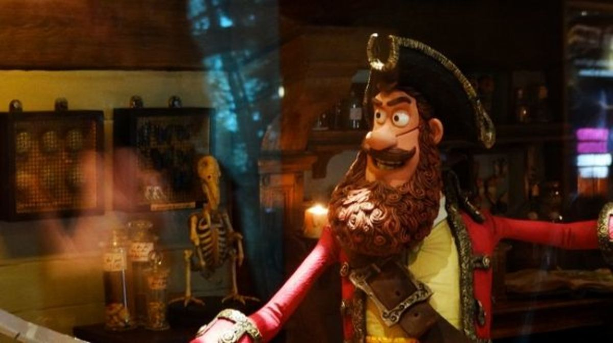 "Model of the Pirate King from ""The Pirates!  In An Adventure With Scientists"", called ""Pirates: Band of Misfits"" in the US"