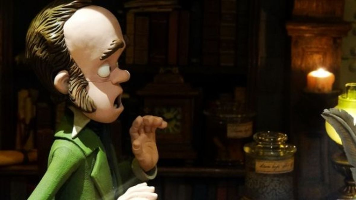 "Charles Darwin, voiced by David Tennant, in the clay animation movie ""The Pirates! In An Adventure With Scientists"" which was called ""Pirates: Band of Misfits"" in the US"