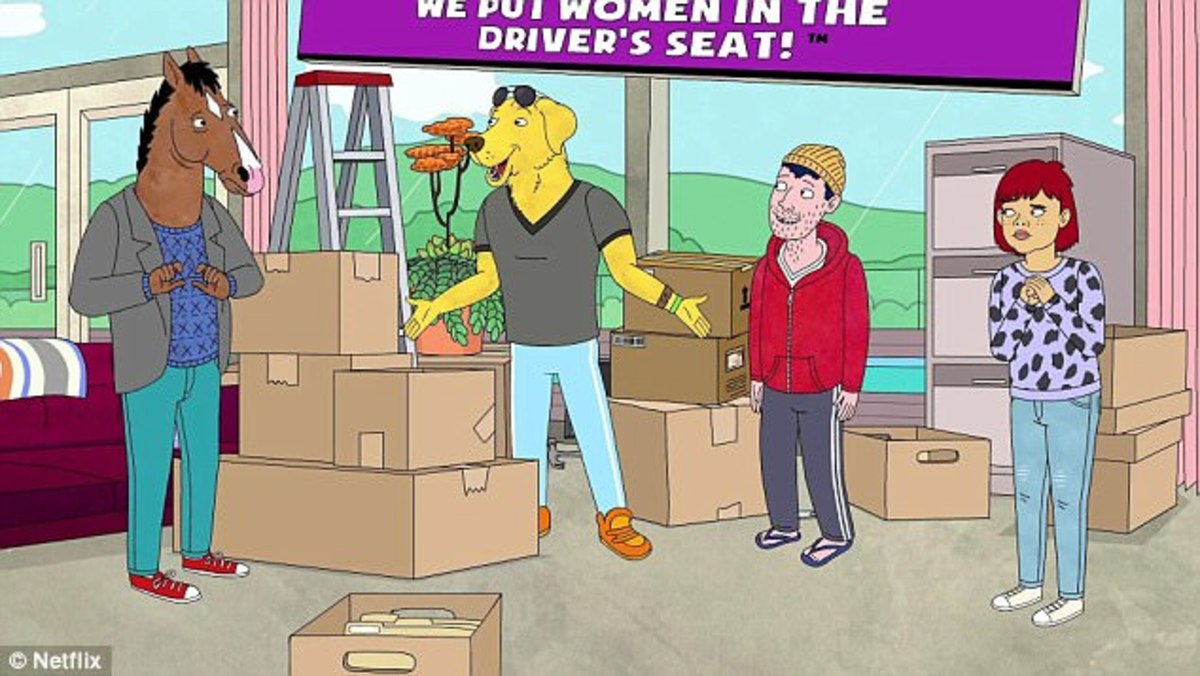 Todd and Mr. Peanutbutter's uber service.