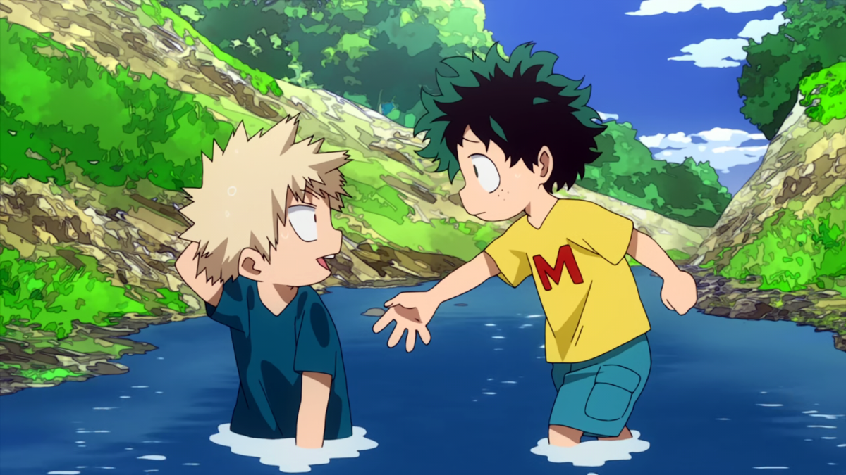 The incident in question: Deku helping Bakugou up and 'embarrassing' him.