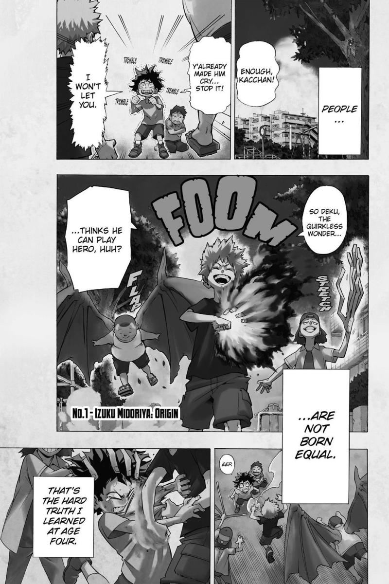This scene is shown in both the manga and the anime, exhibiting the 'childhood friends' equation of this trope.