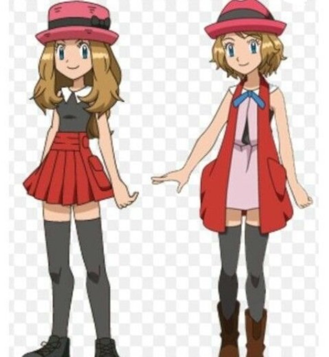 Serena's old and new outfit