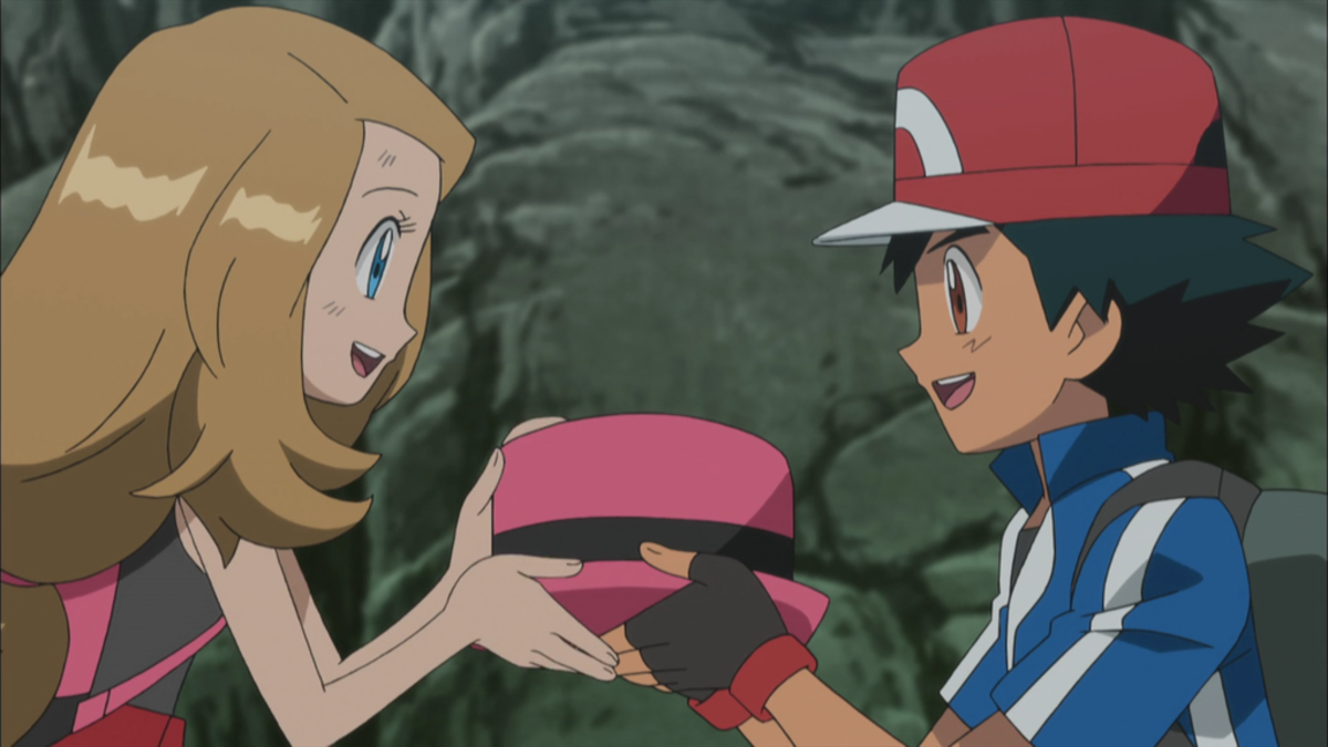 Ash and Serena bonding