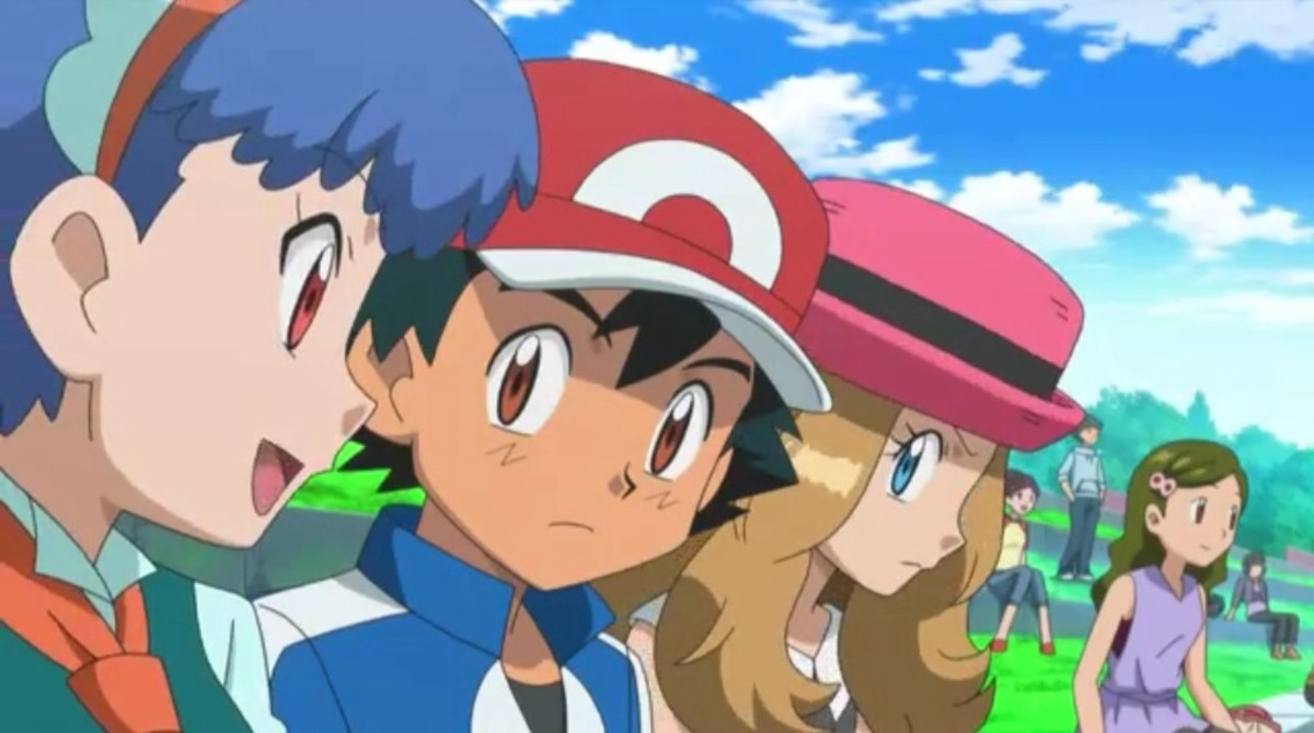 Miette, Ash, and Serena