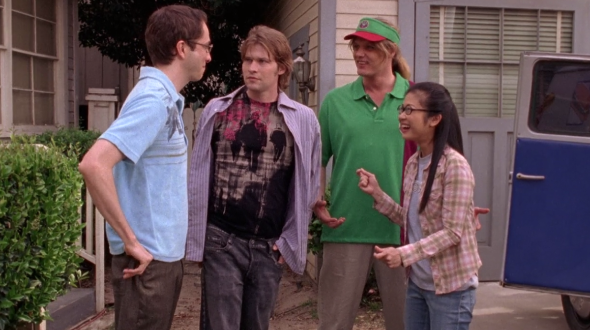 Lowe as Zack on Gilmore Girls.