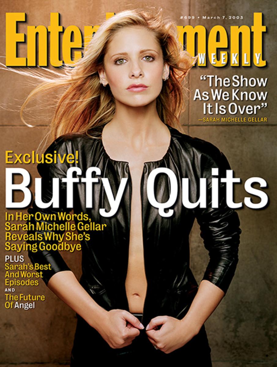 Sarah Michelle Gellar's Entertainment Weekly cover.