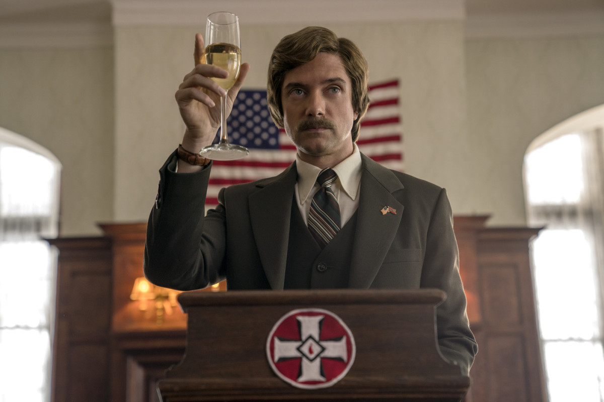 "Topher Grace as David Duke in, ""BlacKkKlansman."""