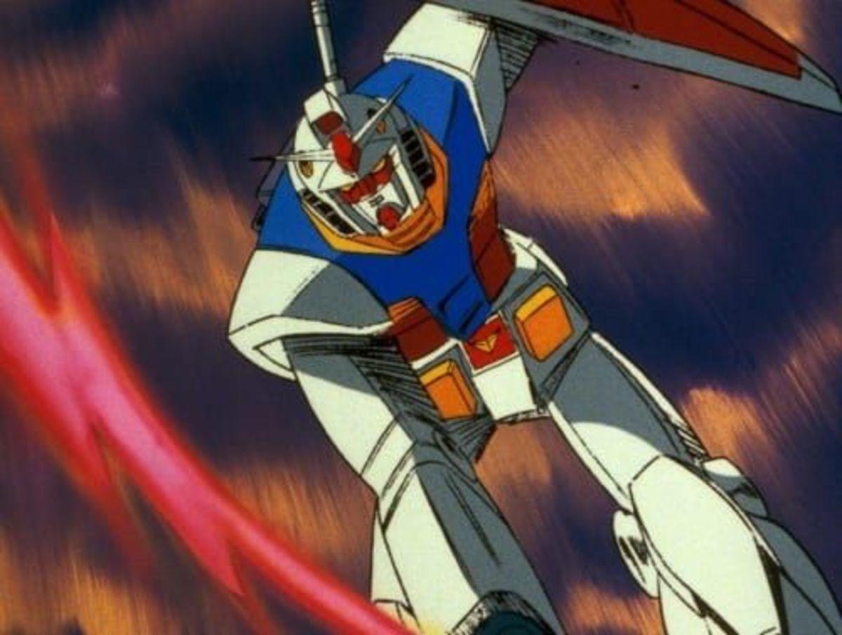 The original Gundam, an example of mecha.