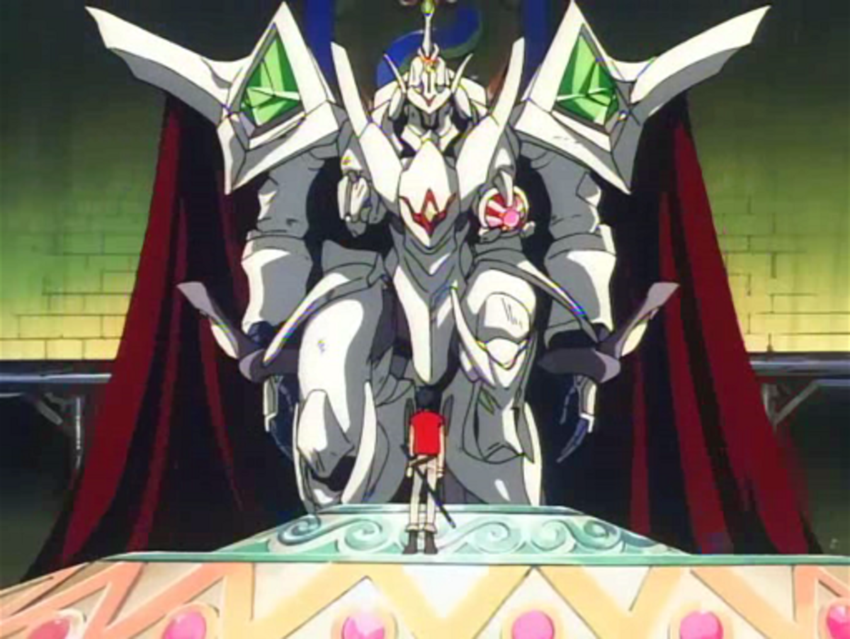 The Vision of Escaflowne presents unconventional and mystical mecha.