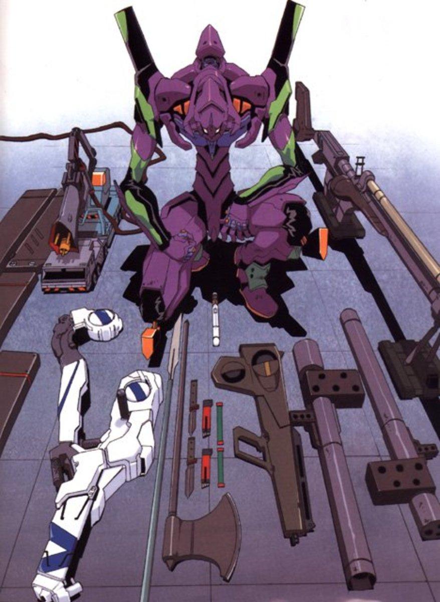 EVA Unit-01 with weapons.