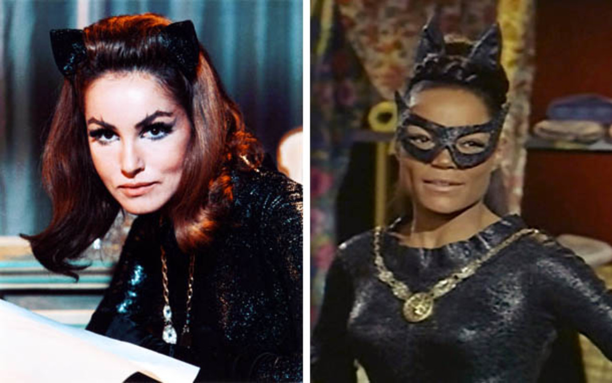 Julie Newmar & Eartha Kitt as Catwoman.